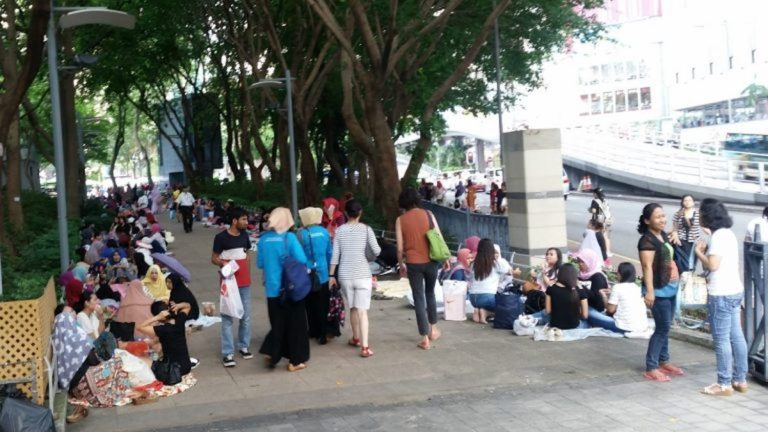Quarantined migrant workers 'treated poorly' in HK